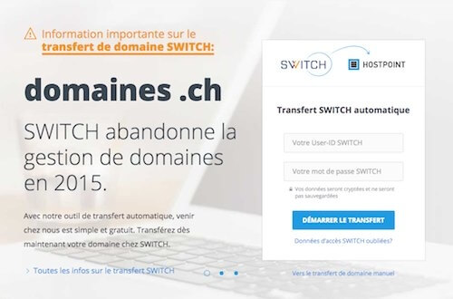 Registrar Suisse switch